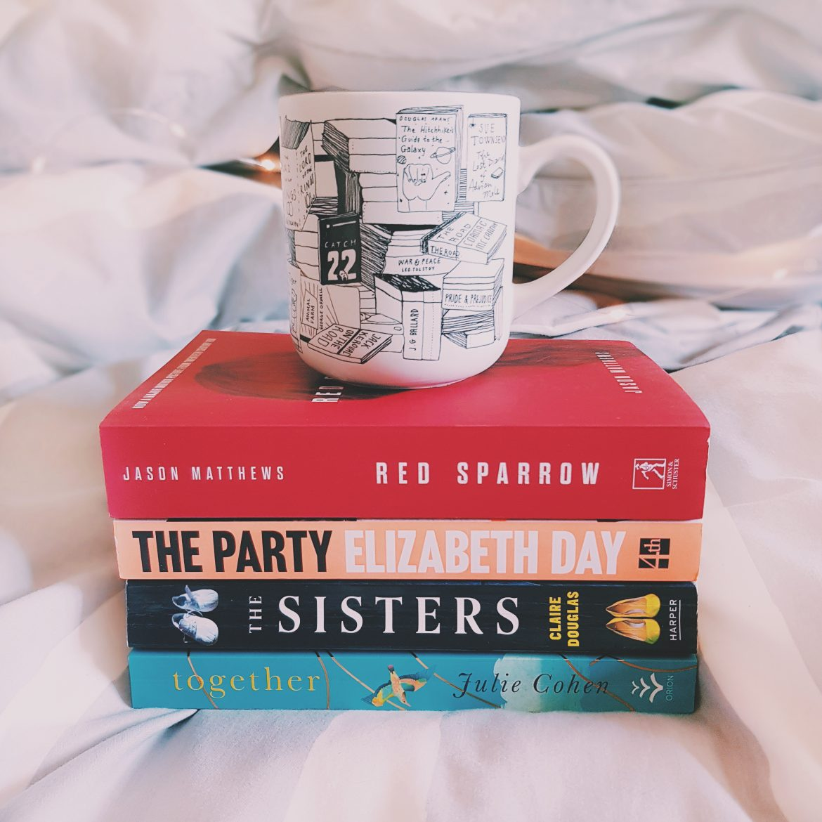 Selection of books and a cup of tea