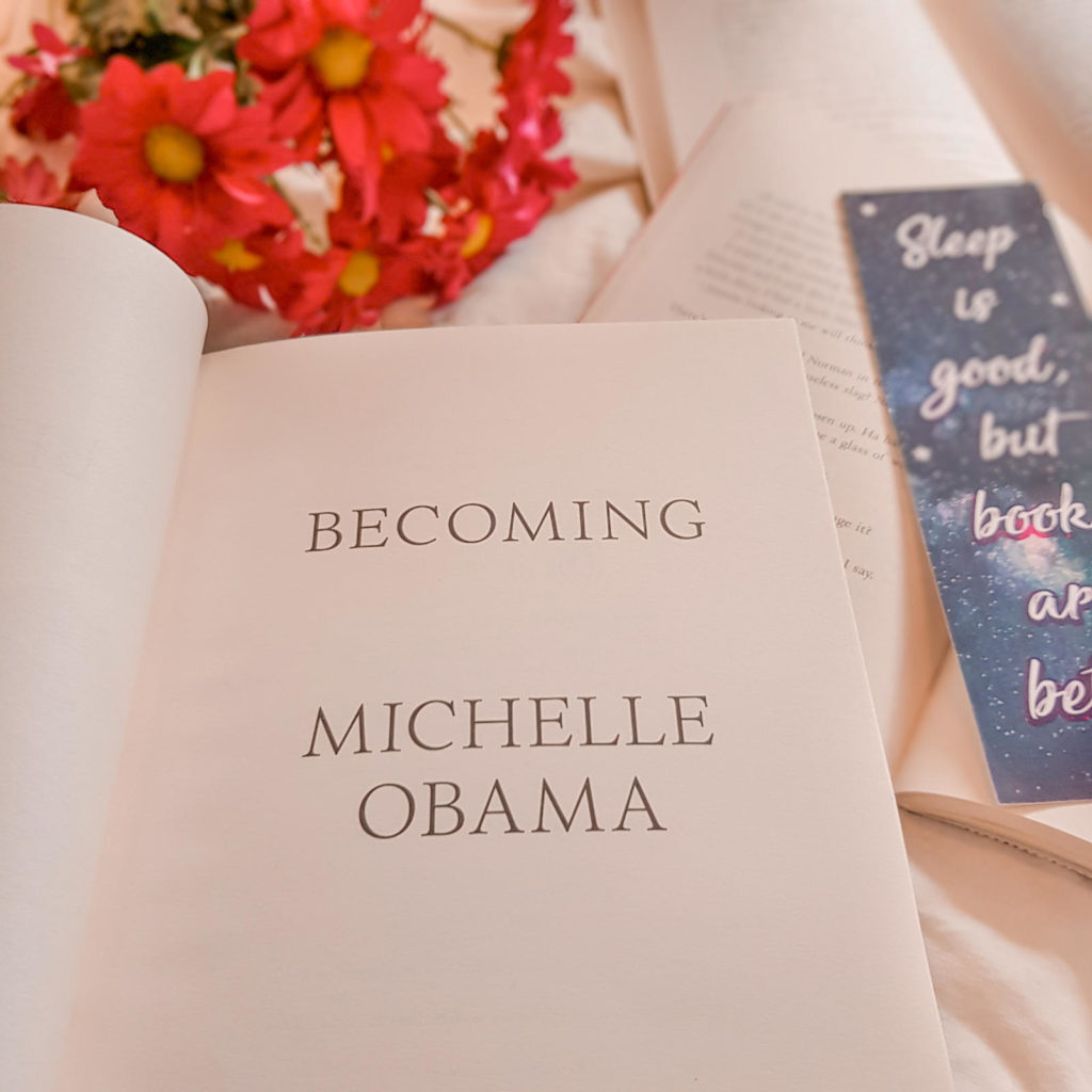 Becoming (Michelle Obama) inside cover